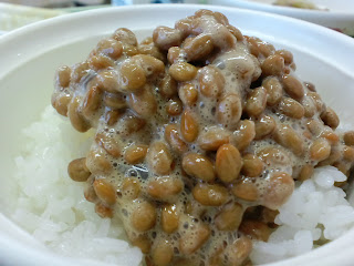 写真:納豆ごはんのアップ