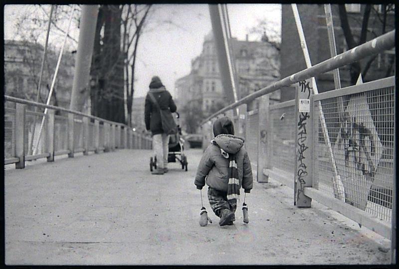 zima we wrocławiu, kładka słodowa, cz-b, wrocław, dokument, streetfoto
