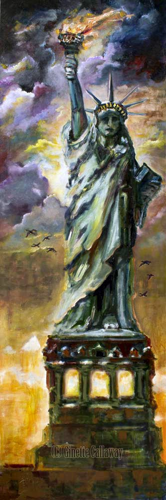 New York Statue of Liberty Painting