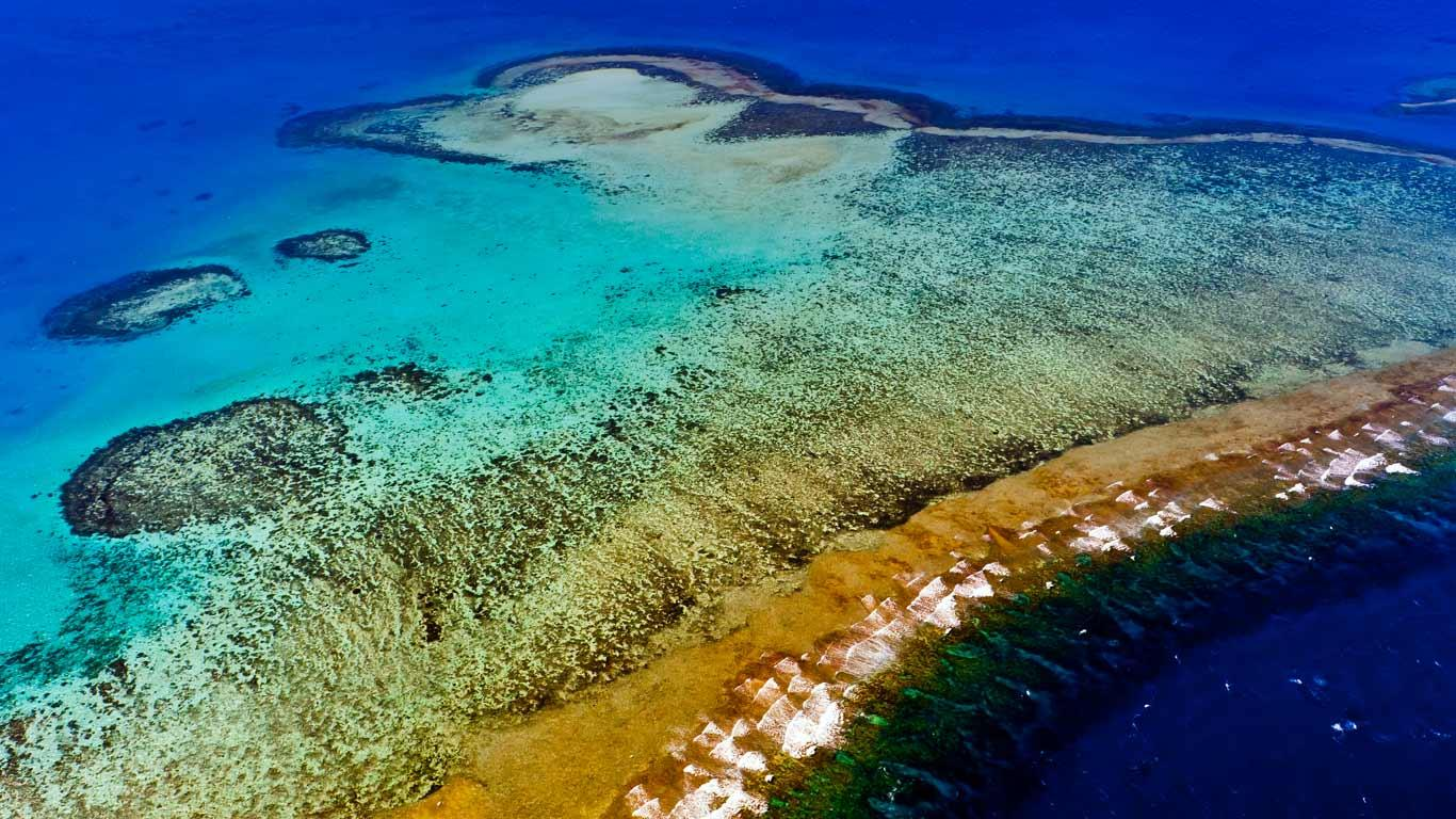 Aerial_view_New_Caledonia_Barrier_Reef_Noumea_New+Caledonia_20121126 - The wonderful world of coral reefs  - Science and Research