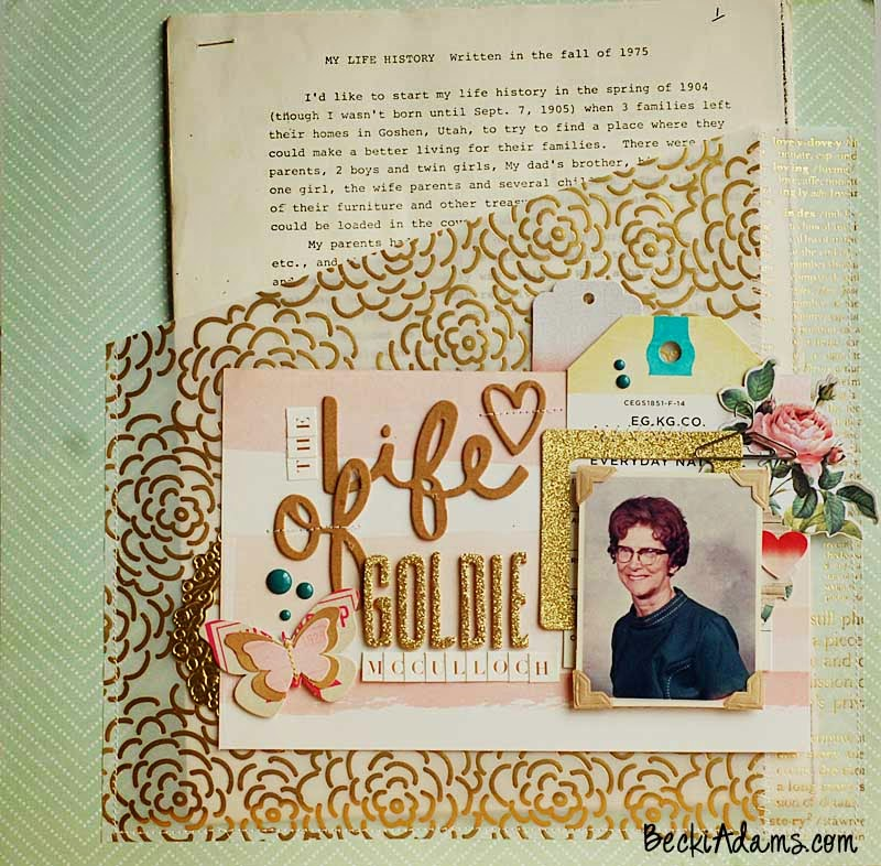 Scrapbooking Heritage Photos by Becki Adams @jbckadams