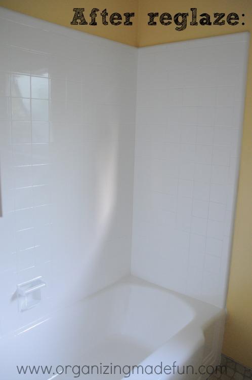 We\'re making progress: Tub reglazed and flooring | Organizing Made ...