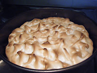 lightly browned meringue
