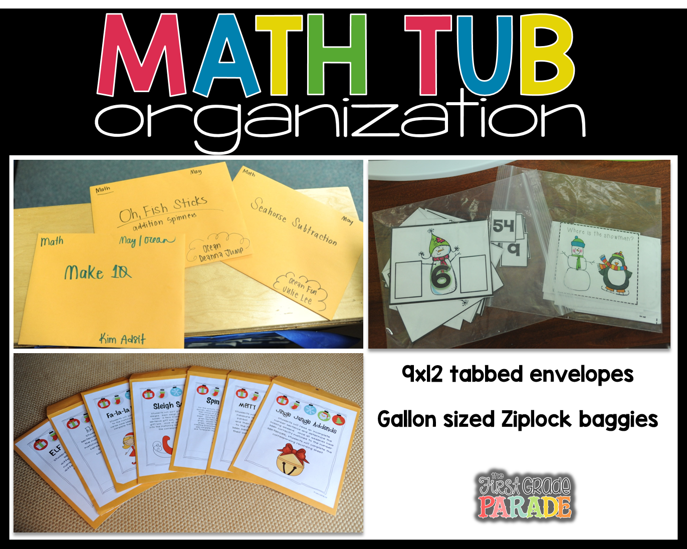 Math Center Set-Up & Organization - The First Grade Parade