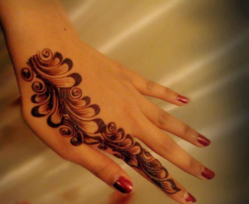 Simple Party Mehndi Designs : Bridal mehndi designs simple and elegant arabian