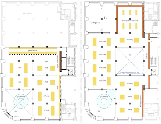 Apple 24 7 la apple store llega a amsterdan Floor plan mac