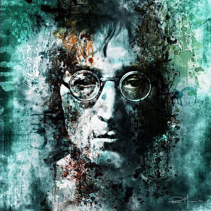 John Lennon Pop | Patrice Murciano 1969 | French Figurative painter | Pop Art portrait