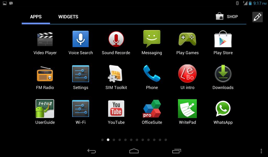 Tampilan default Android Jelly Bean 4.1 di Lenovo A1000