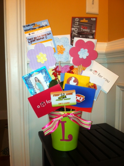 Ivys monograms and more teacher appreciation day 5 the idea came as i received a similar gift for my birthday and it was awesome the teachers absolutely loved it too what is not to like right negle Choice Image