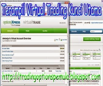 Virtual option trading games