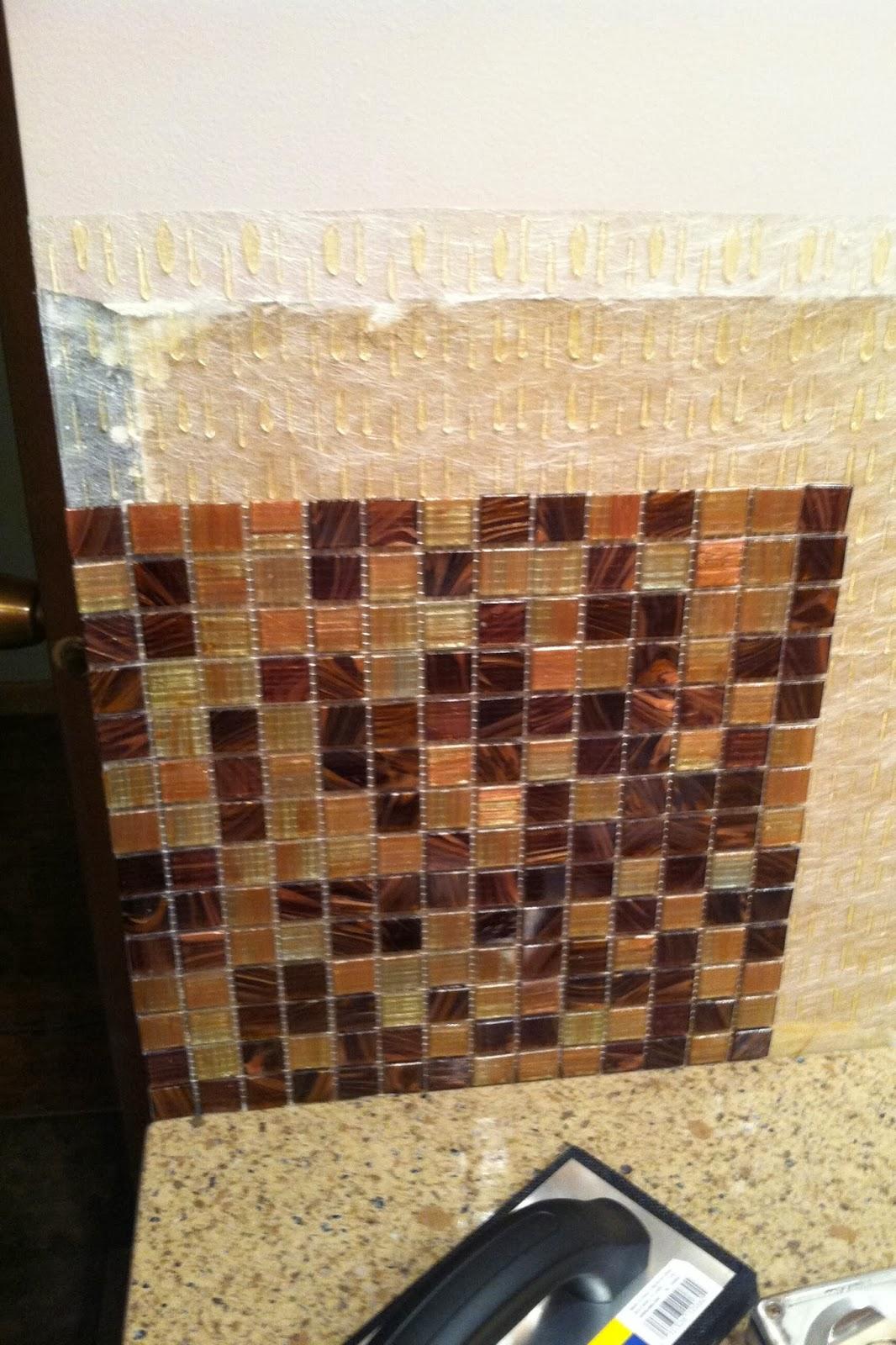 How to put up tile backsplash