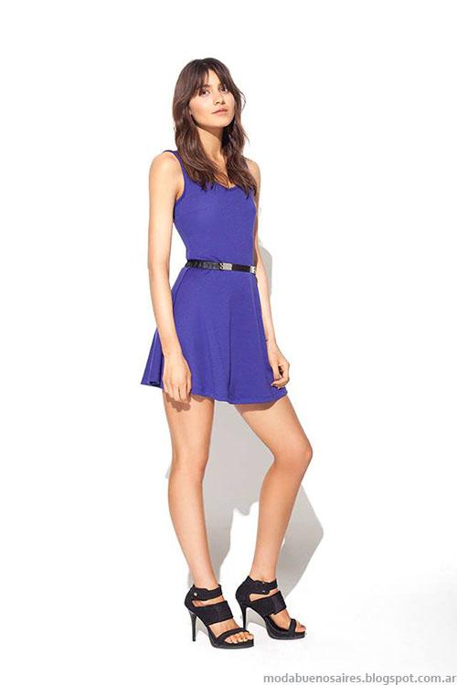 Vestidos verano 2015 cortos, MAB primavera verano 2015 moda.