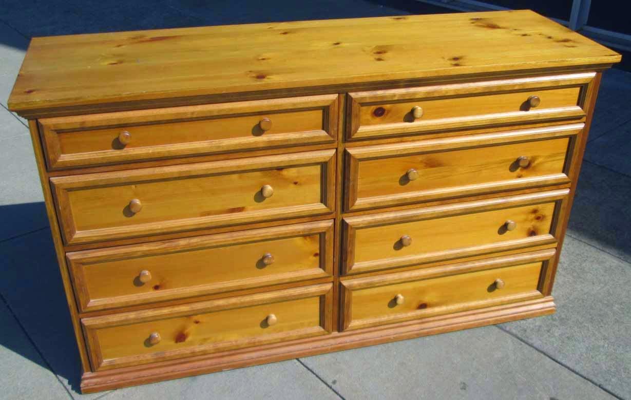 Uhuru Furniture Collectibles Sold Knotty Pine Drawer Dresser 95