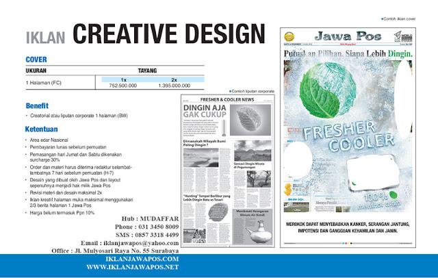 Jawa Pos Iklan Creative Design Cover Halaman 2013