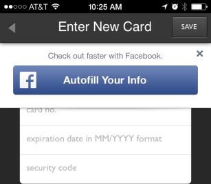 """Facebook """"AutoFill"""""""
