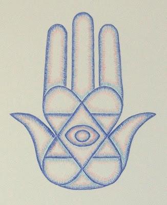 Simple Hamsa Hand Drawing The