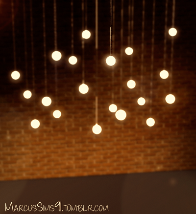 String Lights Sims 4 : My Sims 3 Blog: High Low Pendant Lights by Marcussims91