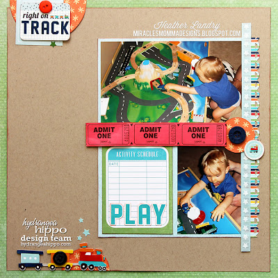 Little Boy_Scrapbook Layout_Train Obsession