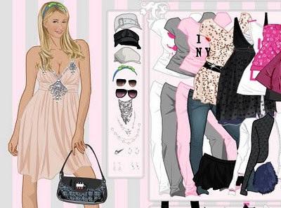 Juego para vestir a la rica Paris Hilton