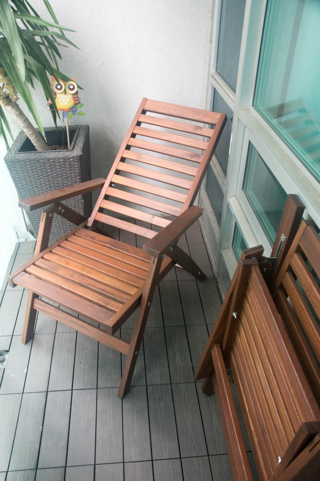 waffling new balcony chairs