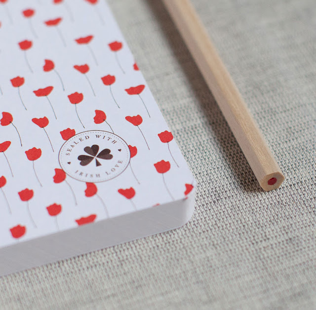 Red Tulip Notebook by Sealed with Irish Love