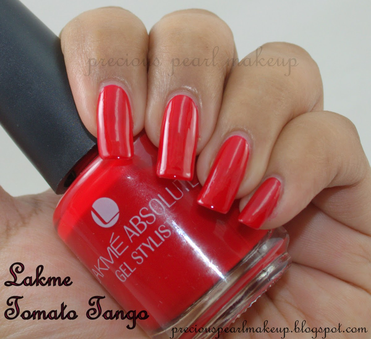Gel Nail Polish Lakme: Preciouspearlmakeup: Lakme Absolute Gel Stylist Tomato Tango
