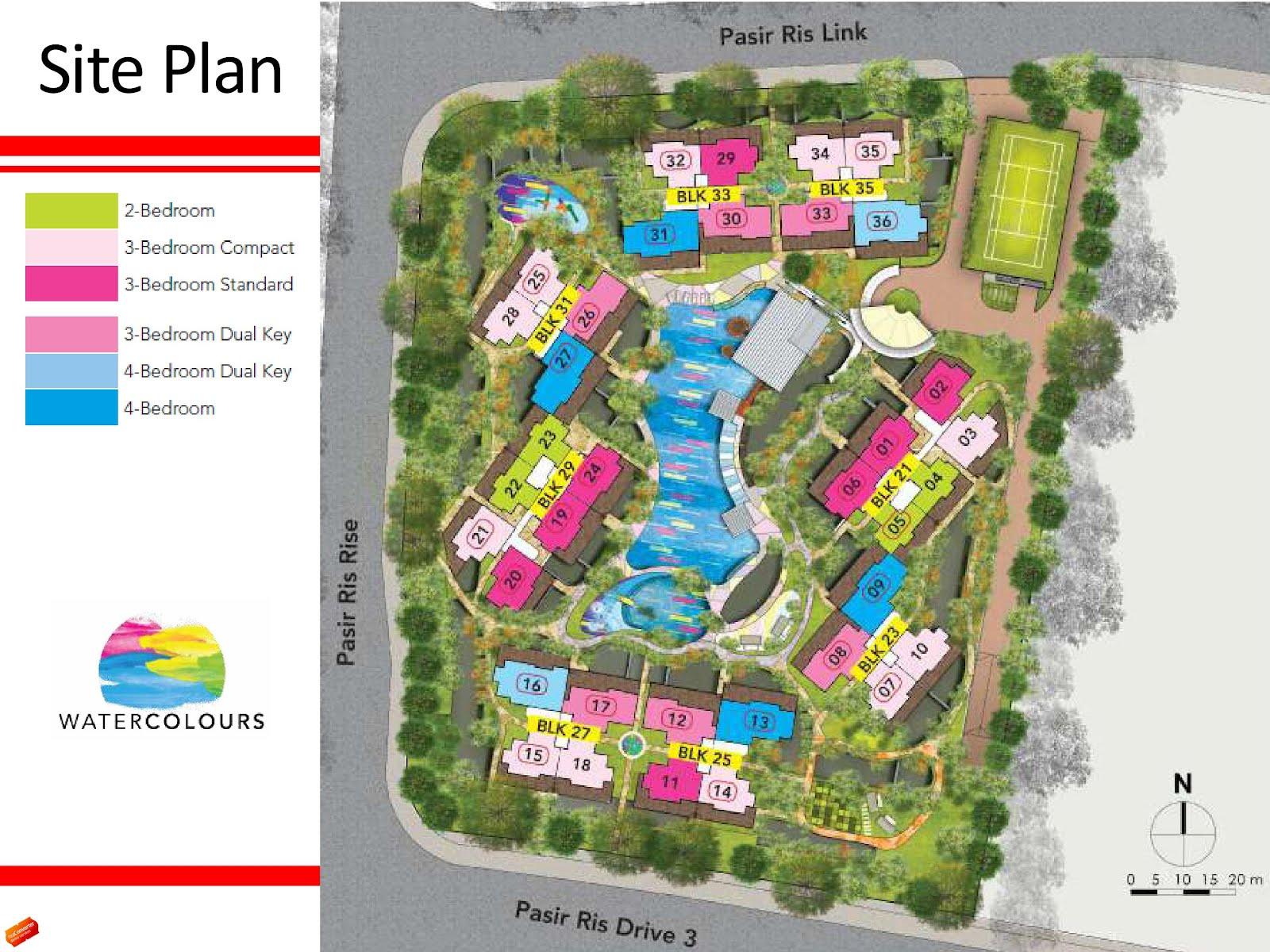 Watercolours ec site floor plan for Site floor plan