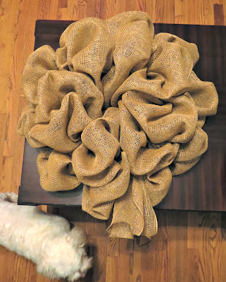 DIY Burlap Witch Wreath