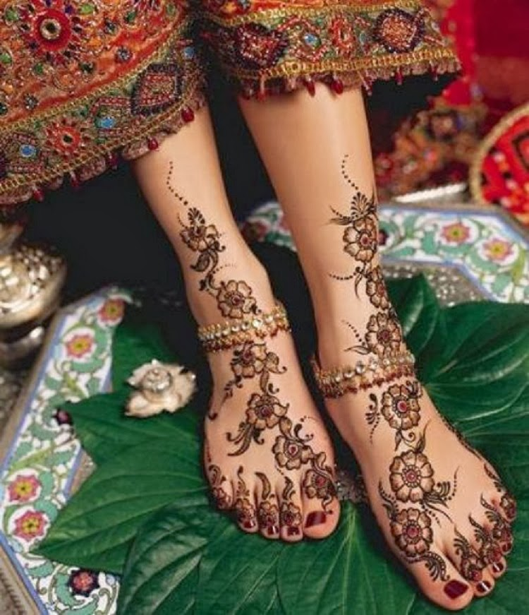 Mehndi Designs For Legs New : Mehndi designs legs pictures new