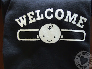 Welcome Baby Freezer Paper Painted Shirts