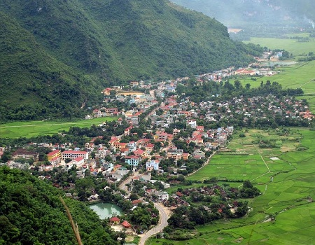 Mai Chau in Hoa Binh in the winter