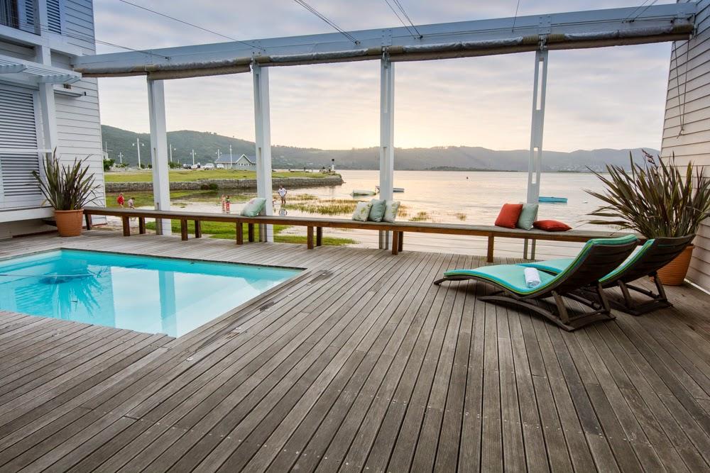 splash pool, the lofts, boutique hotel, Knysna lagoon views, knysna, thesen island, garden route, south africa, sunset view