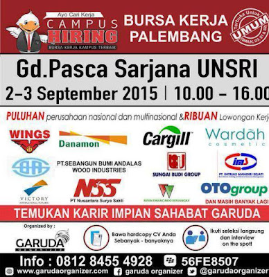 Job Fair Bursa Kerja Palembang September 2015