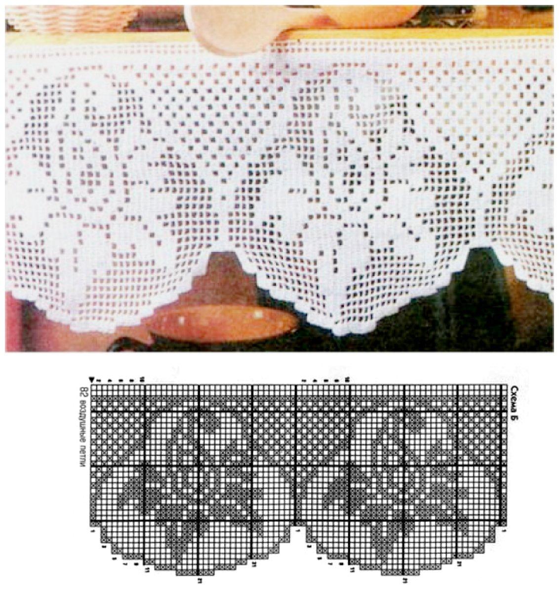 Филейные кружева схемы фото