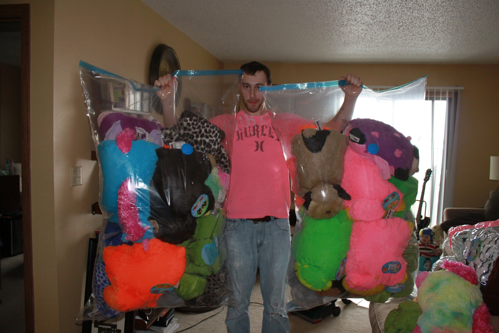 The Jumbo Space Bags Fit About 10 Pillow Pets In Them