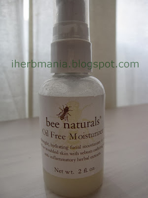 Iherb Oil Free Moisturizer Bee Naturals opinion