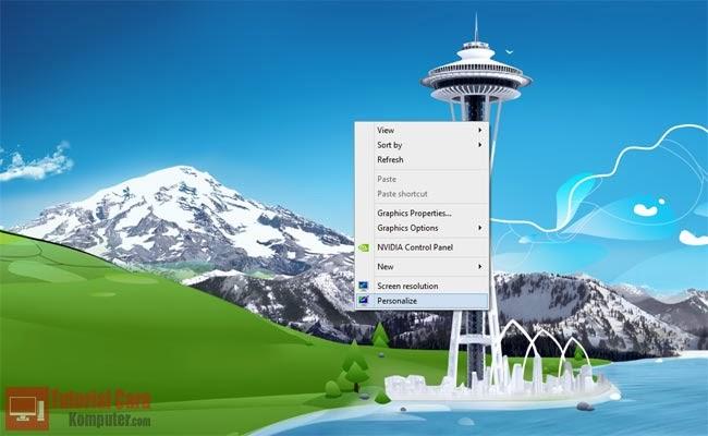 Trik Cara Menghilangkan Icon Recycle Bin dari Desktop -TutorialCaraKomputer.com