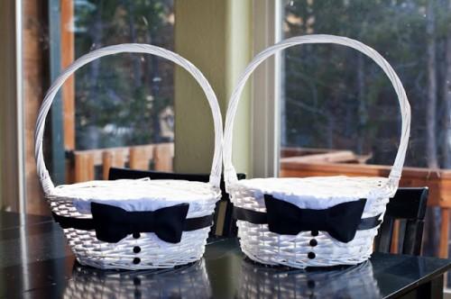 Canastas decoradas para boda