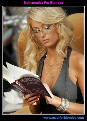 Математика для блондинок. Блондинка и математика.