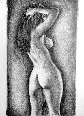 How to draw a nude female, drawing a nude woman, How to draw a woman, How to draw the human figure, figure drawing