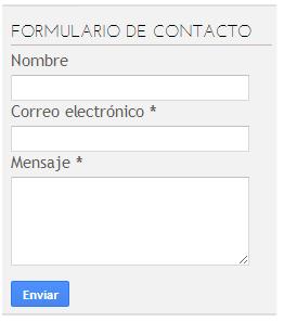 formulario de contact blogger
