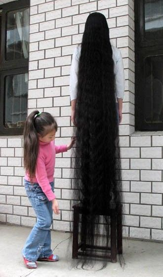Xie Qiuping longest hair in the wo...