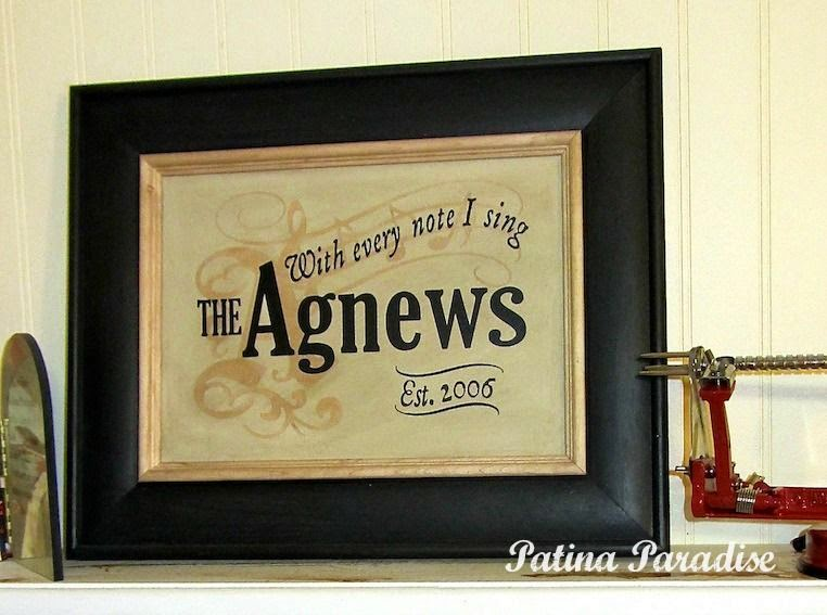 Cabinet Door Turned Personalized Gift