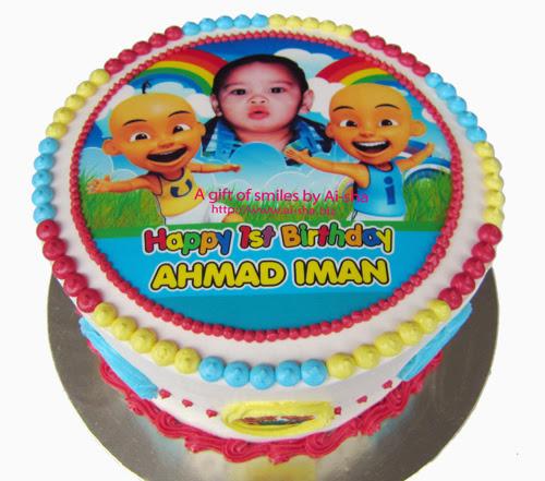 Rainbow Cake Edible Image Upin & Ipin