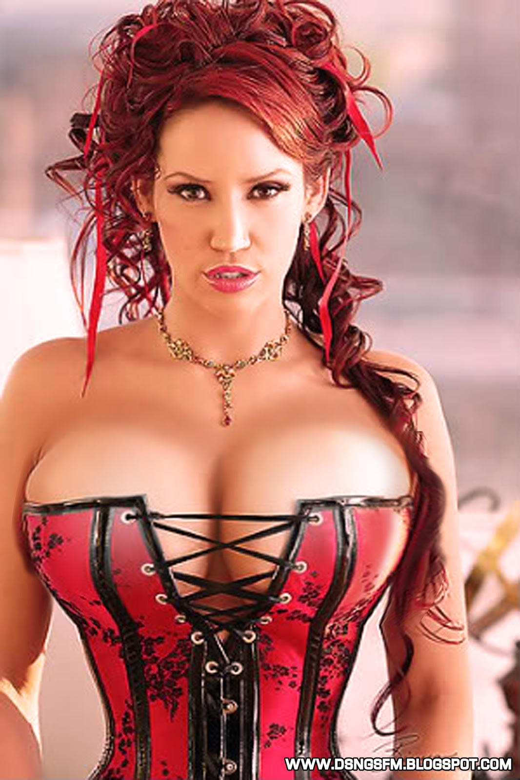 Big hot boobs corset girl