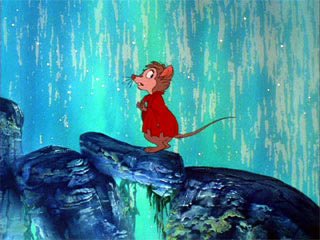 Mrs. Brisby in the rain Secret of NIMH 1982 animatedfilmreviews.blogspot.com