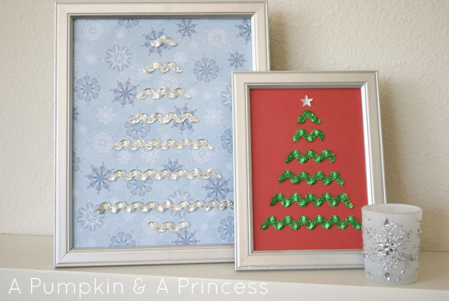How to make these super cute Rick Rack Christmas Trees from A Pumpkin & A Princess!! Great gift idea and only needs a few supplies!