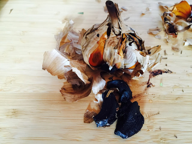 Balsamic black garlic