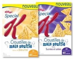 Déroulez le tapis rouge pour les Croustilles de maïs soufflé Special K