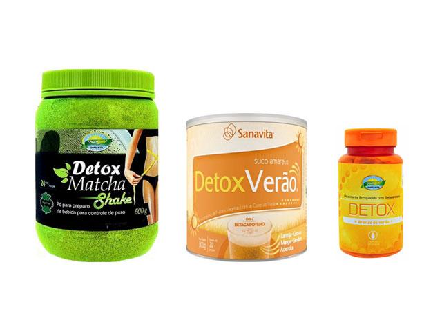 Três produtos detox suspendidos pela Anvisa. Foto: Reprodução